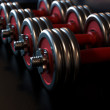 Dumbbells — Stock fotografie