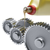 Oiling Gears — Stock Photo