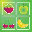 Fruits — Vector de stock #29969679