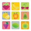 Fruits icons — Stockvektor #29969771