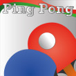 Ping pong — Vector de stock #29970029