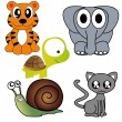 Stock Vector: Animals icons