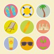 Beach icons — Stock Vector #29975737