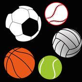Sports balls — Stock Vector