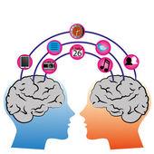 Brain connection — Stock Vector