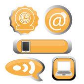 социальные медиа этикетки — Cтоковый вектор