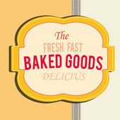 Baked goods — Vector de stock