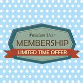 Membership — Stock Vector