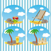 Beach icons — Stock Vector