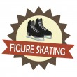 Stockvector : Figure skating