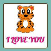 Jag älskar dig — Stockvektor