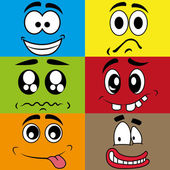 Different expressions — Stock Vector