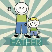 Padre e hijo — Vector de stock