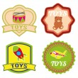 Toys labels — Stock Vector
