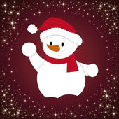 Snowman — Stock vektor