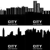 Sylwetki budynków — Wektor stockowy