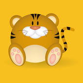 Tiger — Vector de stock