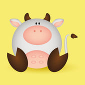 Cute Cow — Stock Vector