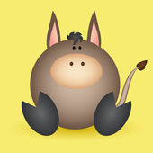 Donkey — Vector de stock