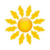 Cute sun — Stock Vector
