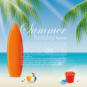 Summer Vacations — 图库矢量图片