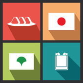 Japanese Objects — Stock Vector