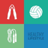 Healthy Lifestyle — Vecteur