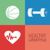 Healthy Lifestyle — Vetorial Stock