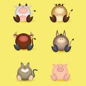 Animales — Vector de stock