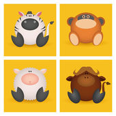 Oxdjur — Stockvektor