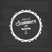 Rótulo de verão — Vetor de Stock