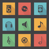Music objects — Stock Vector