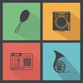 Musik instrumenterar — Stockvektor