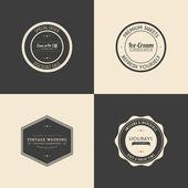 Premium etiketleri — Stok Vektör