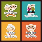 Grandparents day — Stock Vector
