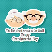Grandparents day — Stock Vector