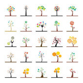 Abstract trees — Stock Vector