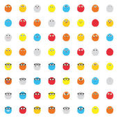 Expression Faces — Stock Vector