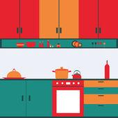 Kitchen — Stock Vector