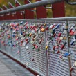 Padlocks on the bridge — Stock Photo
