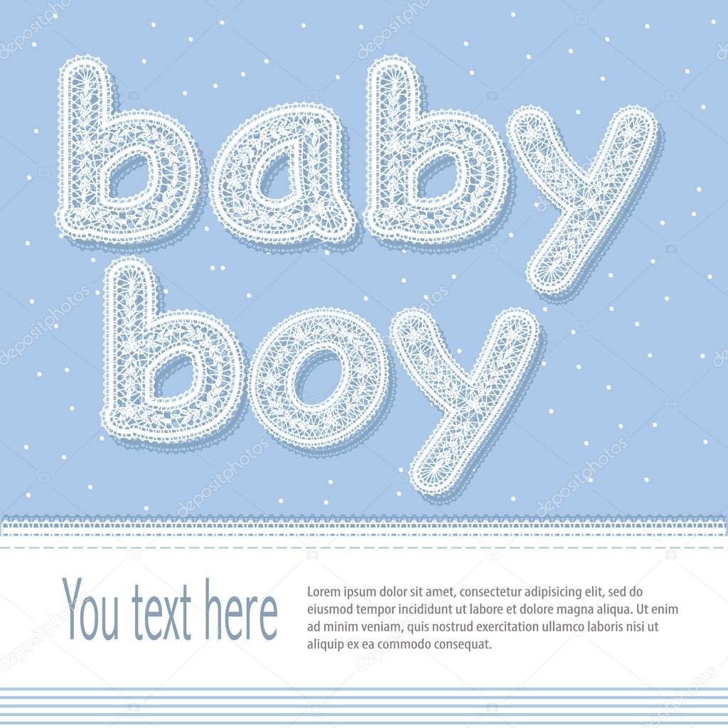 Baby boy arrival card vector by leonart image 600444 vectorstock - Bright Baby Boy Arrival Card Shower Invitation Stock Wallpaper Gallery Baby Boy Shower Card