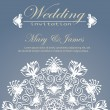 Wedding invitation decorated with floral pattern — Vecteur #28883135