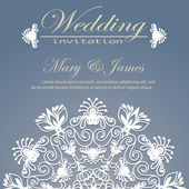 Wedding invitation decorated with floral pattern — Stock Vector