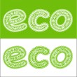Label eco is made ? — Stock Vector #29140367