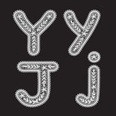 Letters Y and J — Stock Vector