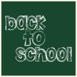 "Inscription ""back to school"" — Stock Vector"