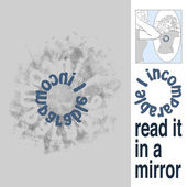 The inscription on the T-shirt, which can be read only in a mirror — Stock Vector