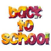 """Inscriptie """"terug naar school"""" — Stockvector"""