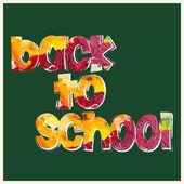 """Inscrição """"volta às aulas"""" — Vetorial Stock"""