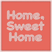 "The word ""home sweet home"" written in white lace letters — Stock Vector"